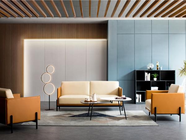 现代风格皮质办公沙发